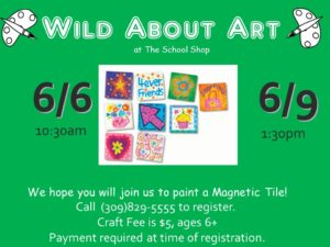 PAINT MAGNETIC TILE ART @ The School Shop  | Bloomington | Illinois | United States