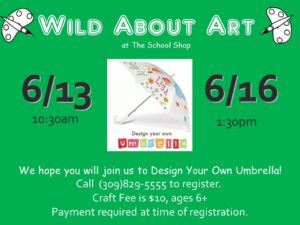 Design Your Own Umbrella @ THE SCHOOL SHOP  | Bloomington | Illinois | United States