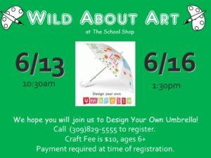 Design Your Own Umbrella @ THE SCHOOL SHOP  | Bloomington | Illinois | United States