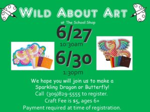 Sparkling Dragon or Butterfly @ The School Shop | Bloomington | Illinois | United States