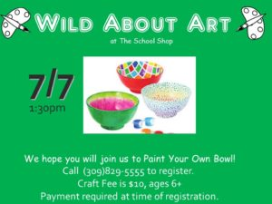 Paint Your Own Bowl @ The School Shop  | Bloomington | Illinois | United States