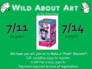 Plush Raccoon @ The School Shop    Bloomington   Illinois   United States