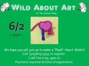 MAKE A PLUSH HEART WALLET @ THE SCHOOL SHOP  | Bloomington | Illinois | United States
