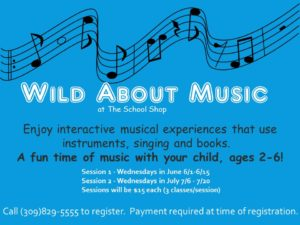 Wild About Music @ The School Shop | Bloomington | Illinois | United States